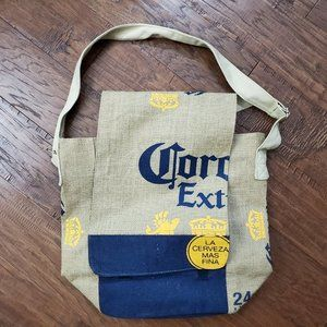 CORONA Beer Burlap Messenger Bag Beach Unisex Logo
